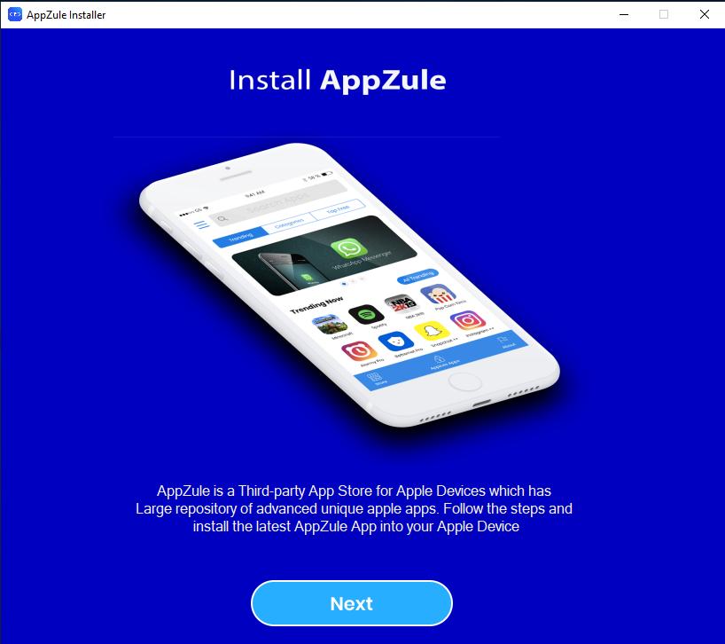 Appzule Windows Installer full screenshot